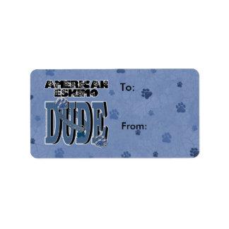 TIPO esquimal americano Etiquetas De Dirección