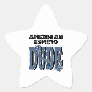 TIPO esquimal americano Pegatina En Forma De Estrella