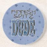 TIPO finlandés del perro de Pomerania Posavasos Personalizados