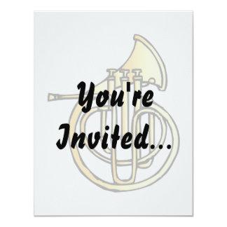 Tipo frente de la trompa del instrumento que hace invitación 10,8 x 13,9 cm