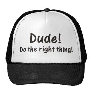 ¡Tipo! Haga el gorra de la cosa correcta