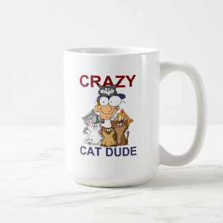Tipo loco del gato tazas
