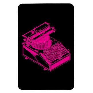 Tipo magenta máquina de la escritura imanes de vinilo