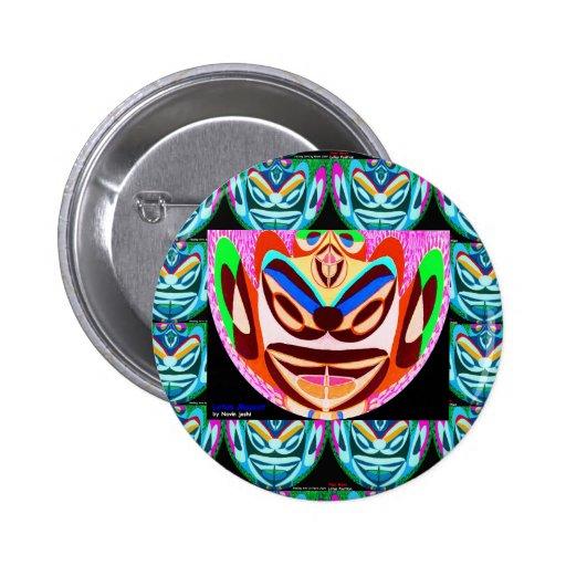 Tipo malvado: Mascota de EvilBuster Pin Redondo 5 Cm