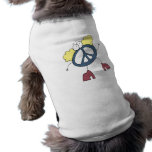 Tipo maravilloso de la paz camiseta de perro