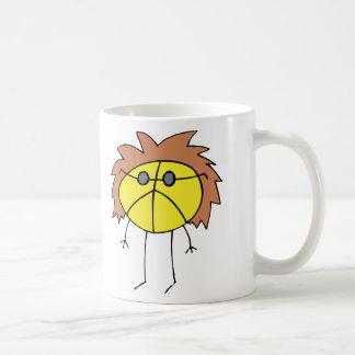 Tipo maravilloso de la paz en amarillo tazas de café