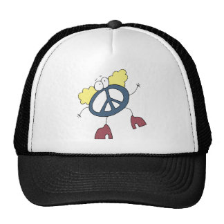 Tipo maravilloso de la paz gorra