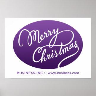 Tipo moderno púrpura de Swirly del navidad del Póster