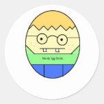 Tipo Nerdy del huevo Pegatina Redonda