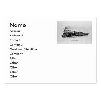 Tipo pacífico locomotora en ferrocarril del servic plantillas de tarjetas de visita