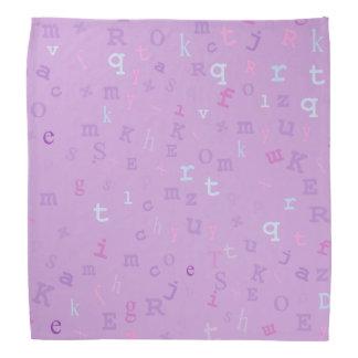 Tipo pañuelo de la lavanda del fondo bandana
