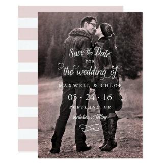 """Tipo perfecto de reserva de la foto del amor la invitación 5"""" x 7"""""""
