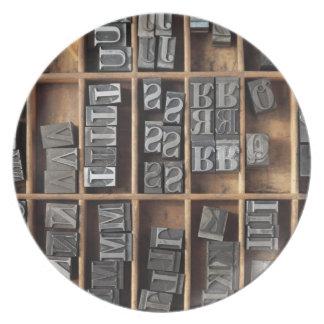 tipo placa del metal de la prensa de copiar plato para fiesta