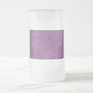 Tipo púrpura diseño del fondo de la tela del grung taza cristal mate