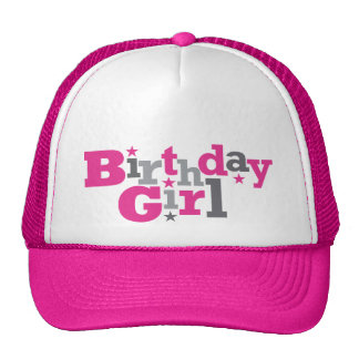 Tipo que fluctúa gorra del chica del cumpleaños
