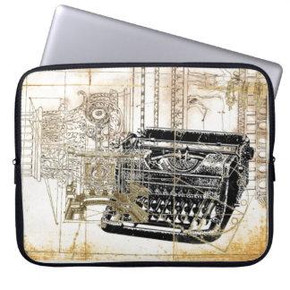 Tipo retro bolso electrónico del vintage enrrollad fundas ordendadores