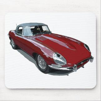Tipo rojo automóvil descubierto de E Alfombrillas De Ratón