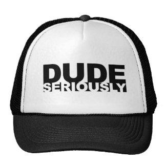tipo seriamente gorras de camionero