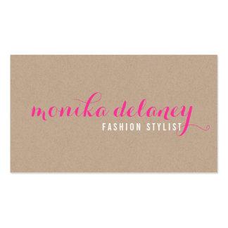 TIPO SIMPLE rosa de moda elegante de la ESCRITURA Tarjetas De Visita