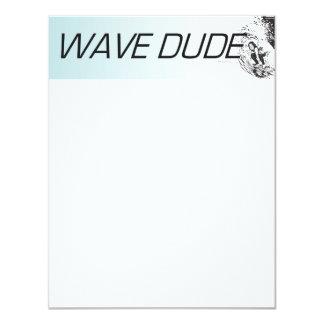 """Tipo SUPERIOR de la onda Invitación 4.25"""" X 5.5"""""""