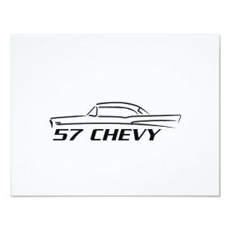 Tipo superior duro 1957 de Chevy Invitación 10,8 X 13,9 Cm