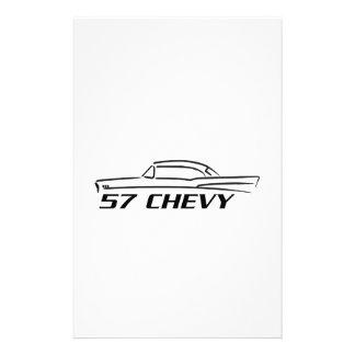 Tipo superior duro 1957 de Chevy Papeleria De Diseño