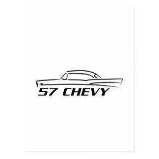 Tipo superior duro 1957 de Chevy Postales