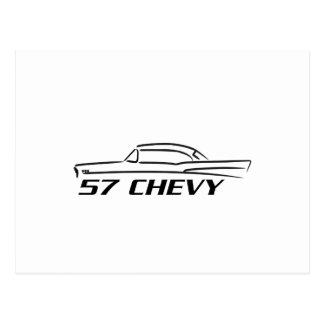 Tipo superior duro 1957 de Chevy Tarjetas Postales