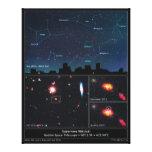 Tipo supernova Mikulski del espacio profundo de II Impresión De Lienzo