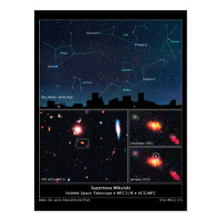 Tipo supernova Mikulski del espacio profundo de II Postales