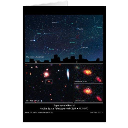 Tipo supernova Mikulski del espacio profundo de II Felicitacion