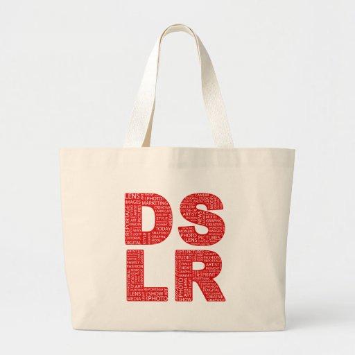 Tipo texto de DSLR del error tipográfico Bolsas De Mano