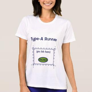 Tipo-UNo corredor (babero del perno aquí) Camiseta