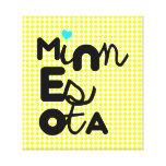 Tipografía adorable linda del estado de Kawaii Min Lona Envuelta Para Galerias