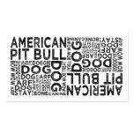 Tipografía americana del pitbull plantilla de tarjeta de negocio