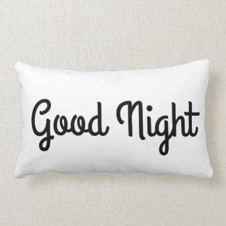 Tipografía apretada del sueño de las buenas noches cojín lumbar