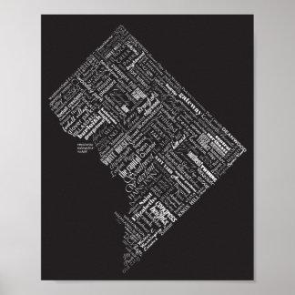 Tipografía B&W dramático de la vecindad del Póster
