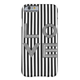 Tipografía blanco y negro del amor funda barely there iPhone 6