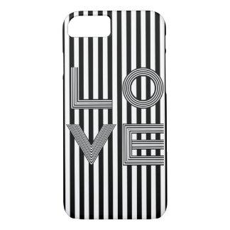 Tipografía blanco y negro del amor funda iPhone 7