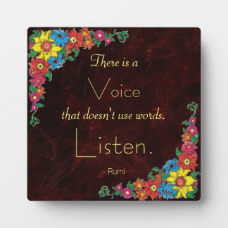Tipografía - cita inspirada del poeta Rumi Placas Con Fotos