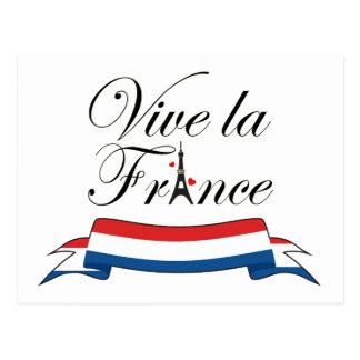 Tipografía de Francia del la de Vive Tarjetas Postales