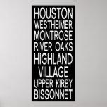 Tipografía de Houston el | Póster