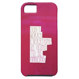 Tipografía de la cita de la vida de la inspiración iPhone 5 Case-Mate cobertura