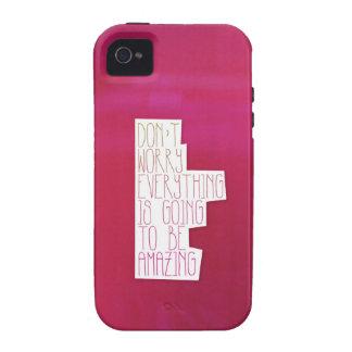 Tipografía de la cita de la vida de la inspiración vibe iPhone 4 carcasas
