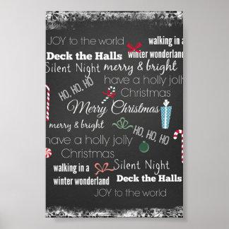 Tipografía de la cita del navidad póster