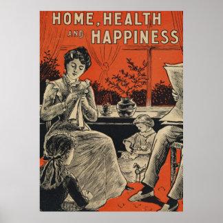 Tipografía de la felicidad de la salud de póster