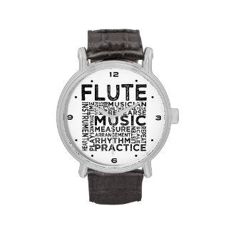 Tipografía de la flauta reloj