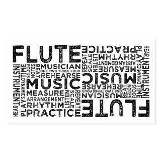 Tipografía de la flauta tarjetas de visita