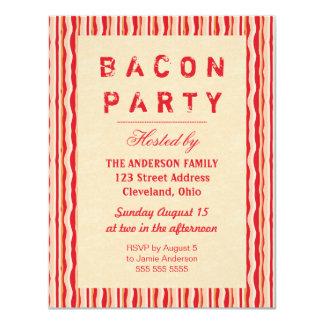 Tipografía de la invitación del fiesta de las