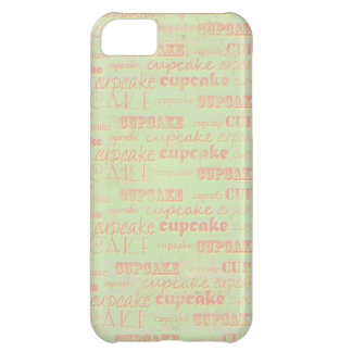 Tipografía de la magdalena del vintage funda para iPhone 5C